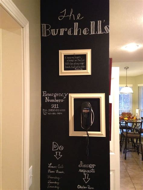chalkboard wall in kitchen house ideas pinterest