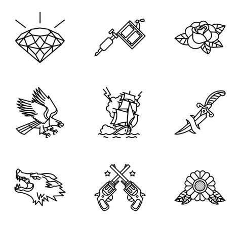 tattoo icons icons 754 free vector icons