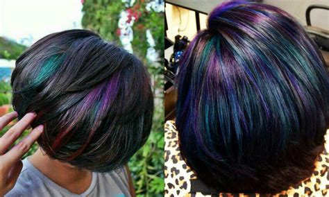 hairstyles and hair colors oil slick hair colors pastel for brunettes hairstyles