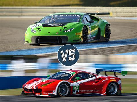 Vs Lamborghini Race Vs Lamborghini The Battle Of The Gt3 Race Cars