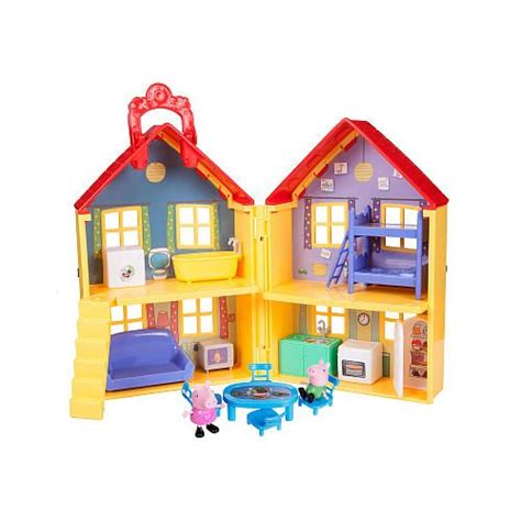 toys r us peppa pig house peppa pig peppa s deluxe house playset play houses the