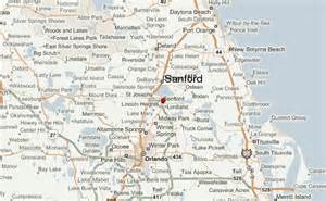 sanford florida on map sanford location guide
