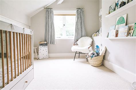 A Modern Stylish Unisex Baby Nursery With A Neutral Grey Unisex Nursery Curtains