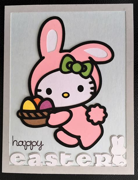 02792 Lu Hellokitty Lu Frame Hellokitty scrap ali after hello easter bunny cards made