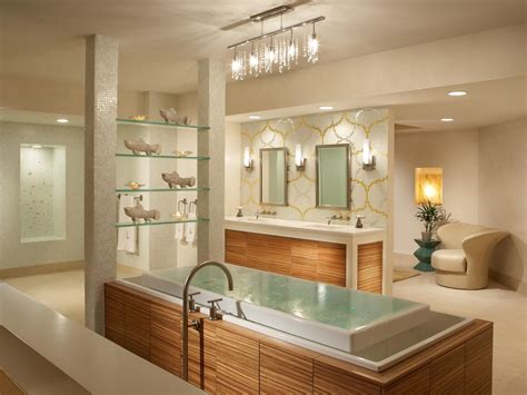 Modern Spa Bathroom by Modern Bathroom Lighting Hgtv