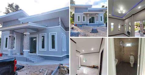 inspirasi warna rumah nuansa abu abu putih