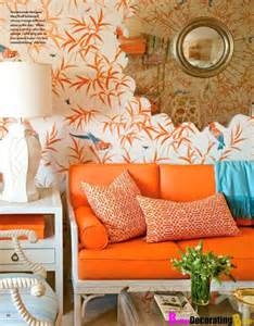 orange home decor orange wallpaper home decor 2017 grasscloth wallpaper