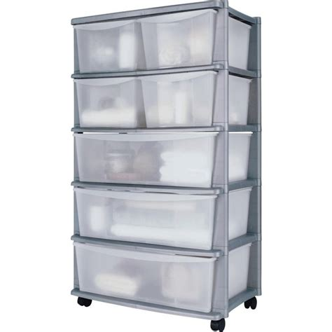 Plastic Storage Drawers Uk by Buy Home 7 Drawer Silver Plastic Wide Tower Storage Unit