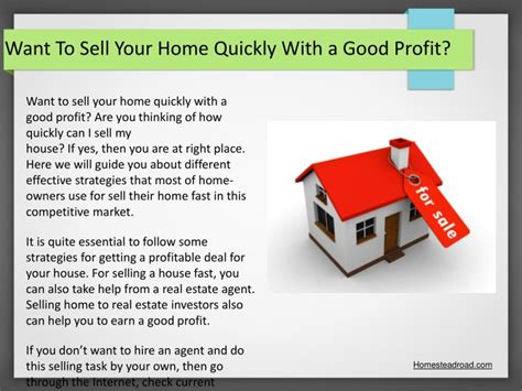 want to sell my house fast ppt how quickly can i sell my house powerpoint