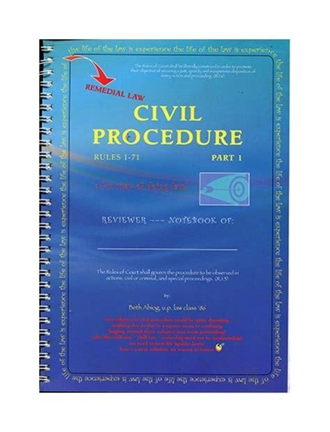 section 60 of civil procedure code civil procedure 1 71 part i by l abiog