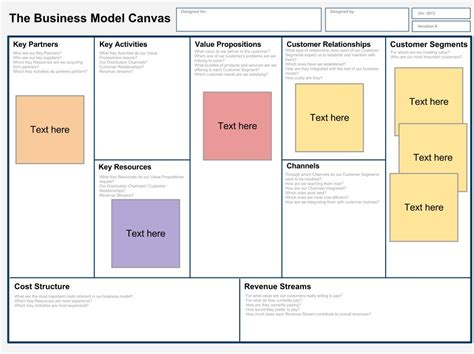 Business Model Template Tristarhomecareinc Business Canvas Template Word