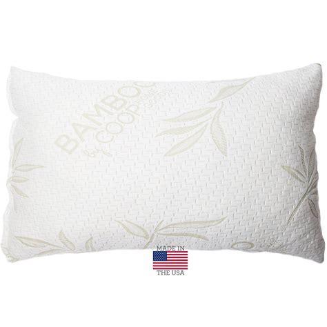 Bamboo Covered Memory Foam Pillow by Shredded Memory Foam Pillow With Bamboo Cover By Coop Home Goods Made In Th Ebay