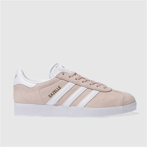womens pale pink adidas gazelle suede trainers schuh