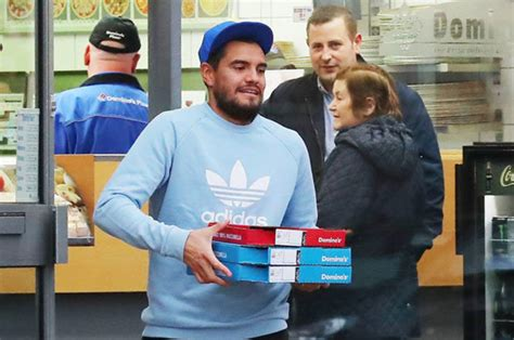 domino pizza fulham man utd star sergio romero snapped picking up a domino s