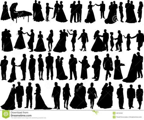 Wedding silhouettes stock vector. Illustration of bridegroom   4615342