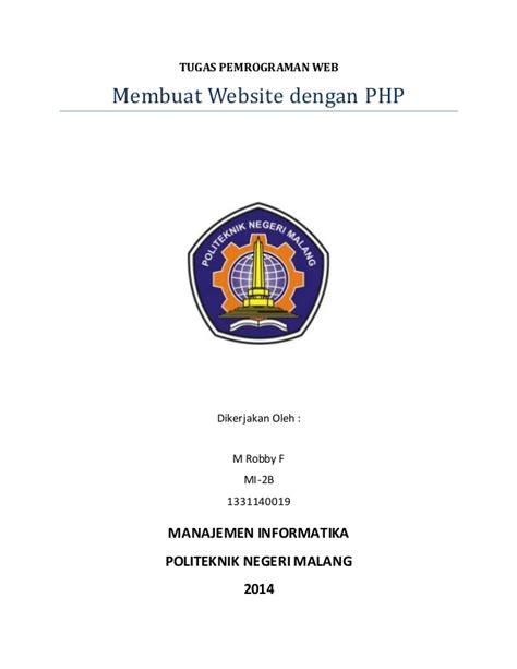 membuat website dengan php murni membuat website php metode crud