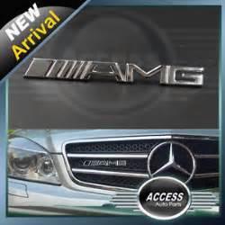 Mercedes Interior Accessories Amg Front Grill Badge Emblem Mercedes A B C E S Class