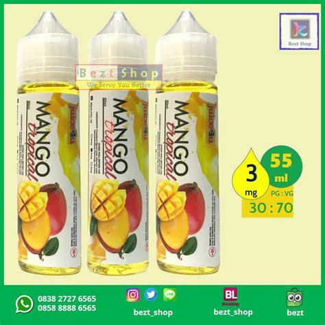 Mango Mango 100 Ml 3 Mg Liquid Vape Lokal Premium jual beli mango tropical juice4u 55 ml 3 mg vape