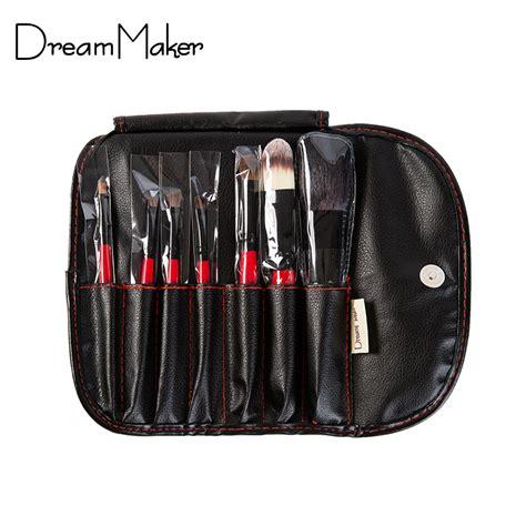 7 Set Hair Makeup Brush Set Animal Model Kuas Wajah Berkualitas animal hair 7pcs professional makeup brushes set pu leather bag make up tools hair