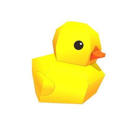 Paper Duck Craft - printable rubber duck paper craft allfreepapercrafts