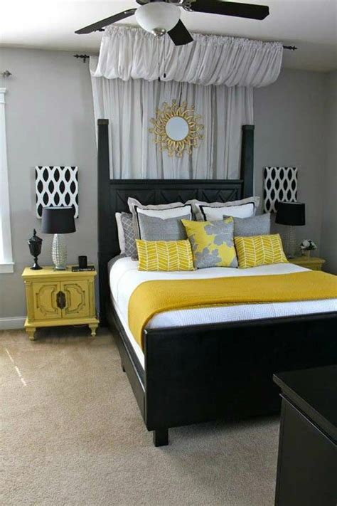 creative ideas for bedroom decor grey and blue wall black bed paint ideas for bedroom
