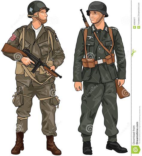 Marine Zippers Navy Jacket Jaket Anime One duitse en amerikaanse militairen ww2 stock illustratie