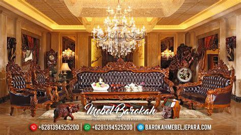 Kursi Tamu Barcelona kursi sofa tamu mewah jepara jati ukiran model barcelona jumbo mb 0089