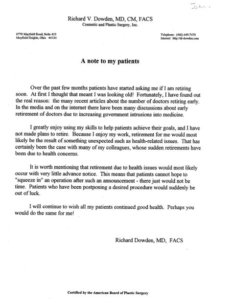 Patient Letter To Doctor rumors of a doc s demise glasshospital