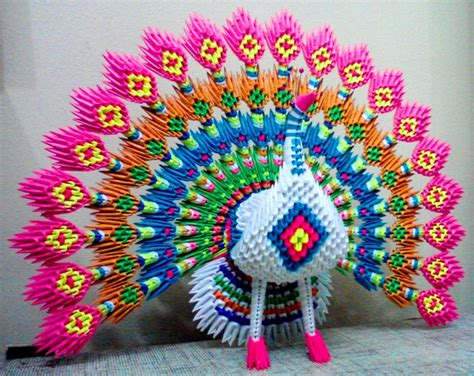 How To Make A 3d Origami Peacock - peacock album mohammad nofal 3d origami