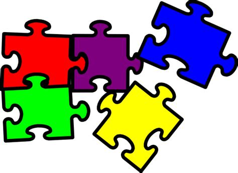 puzzle pieces clip art at clker com vector clip art