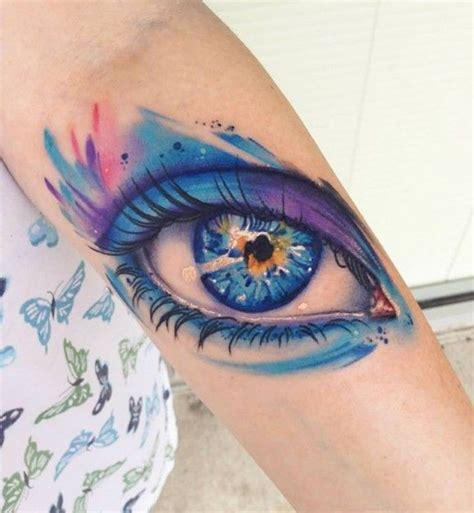 sch 246 nes aquarell auge tattoo von mike schultz
