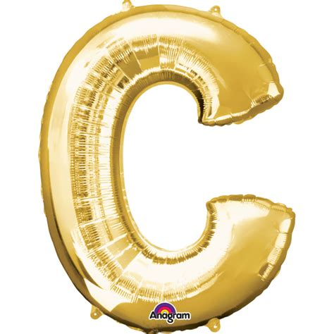 Silver Foil Balloon C gold letter c mini foil balloon 16 quot air free delivery