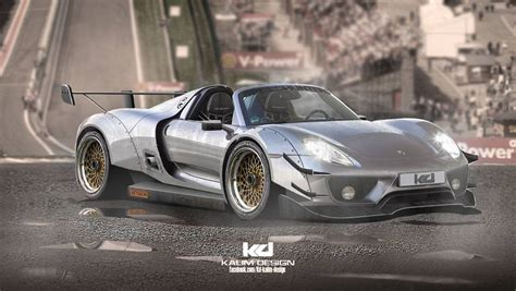 porsche 918 rsr spyder porsche 918 spyder racecar rendered as fxx k