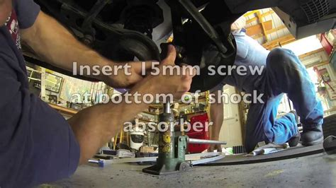 replace rear shocks  volvo  youtube