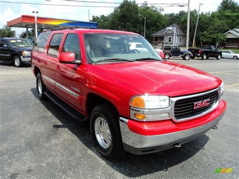 gmc yukon red 2001 gmc yukon xl red 200 interior and exterior images