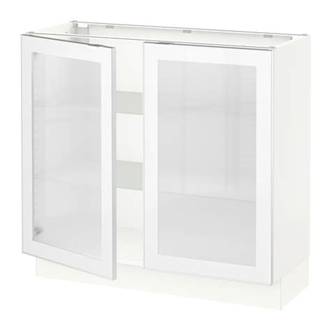 frosted glass cabinet doors sektion base cabinet with 2 glass doors white jutis