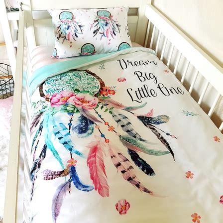 dreamcatcher bedding cot quilt dream catcher cotton nursery linen baby bedding www poppycotton co nz