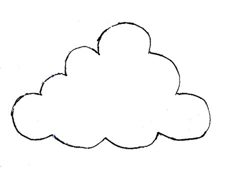printable cloud template clipartsco