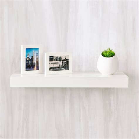 floating white shelves way basics ravello 24 in x 2 in zboard wall shelf decorative floating shelf in pearl white fs