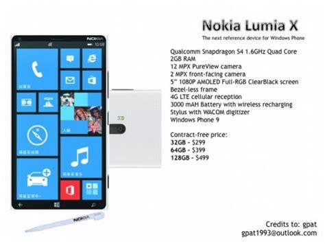 Nokia Lumia X Nokia Lumia X A 5 Inch Phablet With Wacom Stylus Windows Phone 9 Concept Phones