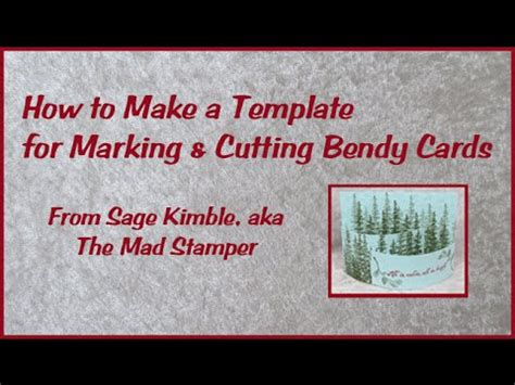 How To Create A Template In How To Make A Template For Marking Cutting Bendy Cards Youtube