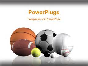 free sports powerpoint templates powerpoint template sports balls lined up white