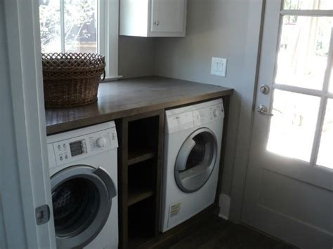 cabinet between washer and dryer 2012 bosch netzero home serenbe contemporary laundry