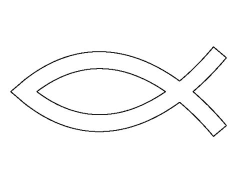 jesus fish pattern use the printable outline for crafts