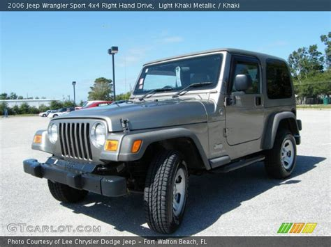 Jeep Right Drive Light Khaki Metallic 2006 Jeep Wrangler Sport 4x4 Right