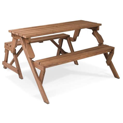 picnic table to bench two in one picnic table bench walmart com