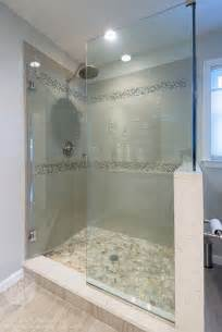 bathroom shower stall designs glass shower stall river rocks frameless glass shower