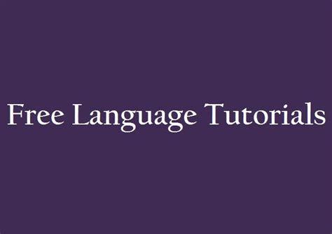language tutorial website 20 free language learning websites