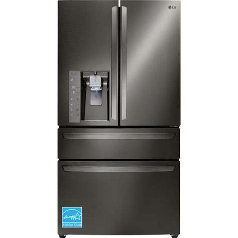 Lg 4 Door Counter Depth Refrigerator lg lmxc23746d 23 0 black stainless steel 4 door counter