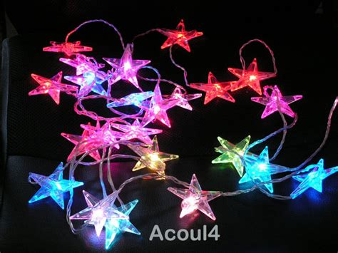 Ikea Kilometer Multi Color Stars Decorative String Of Led Ikea String Of Lights